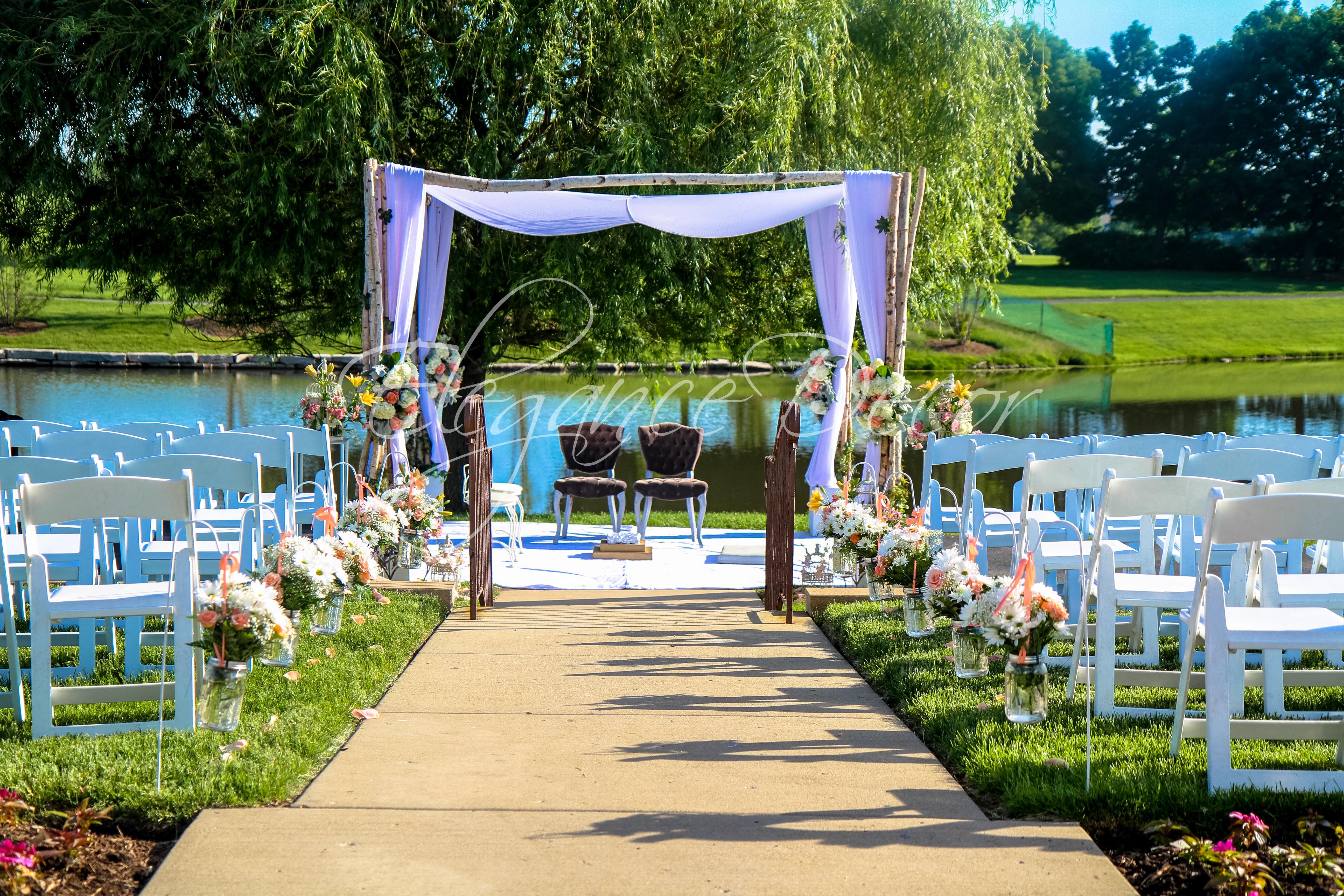 Designing With Nature An Outdoor Ceremony In Chicago
