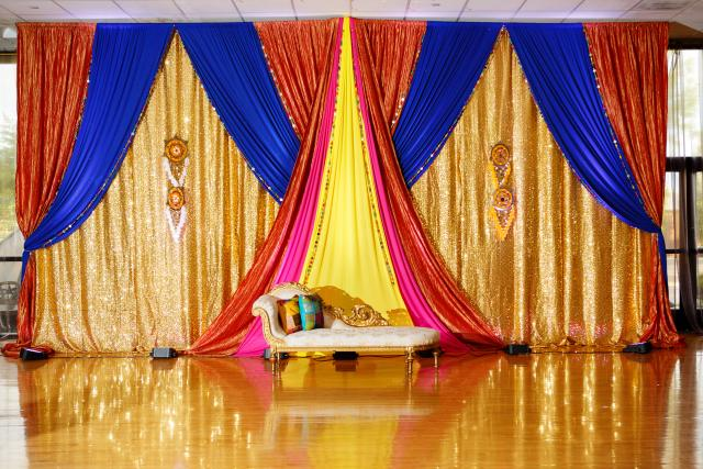 Bring on the colors elegance decor for Background decoration for indian wedding